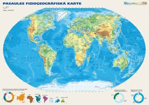 Maps Wall Maps Political And Physiographic World Map In A Format - A3 printable world map