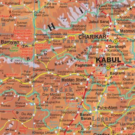 political map of armenia. elevation map of armenia.
