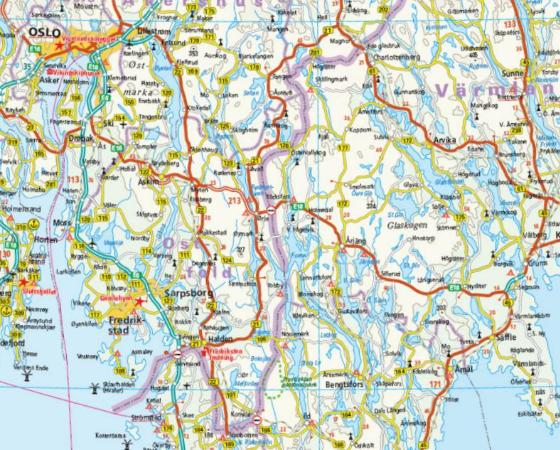 Maps road maps atlases southern sweden and norway southern sweden and norway publicscrutiny Choice Image