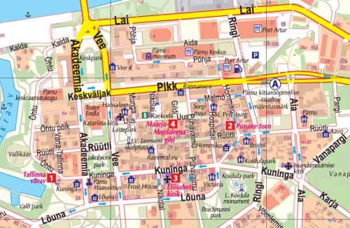 Maps City maps atlases Prnu