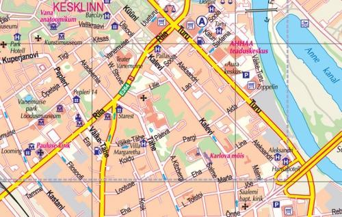 Maps City maps atlases Tartu