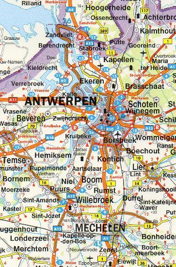 Maps Road maps atlases Benelux