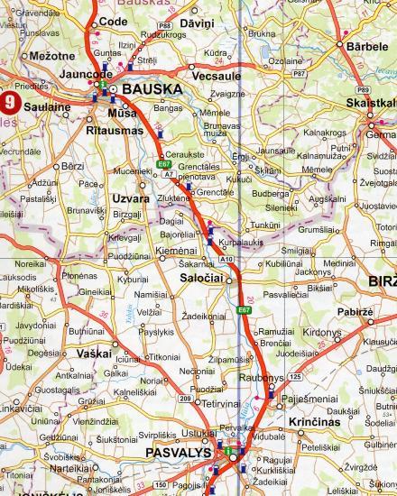 Maps Road maps atlases Eesti Latvija Lietuva Autoceu atlants