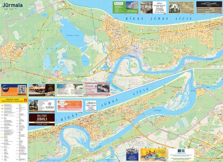 Maps City maps atlases Jrmala