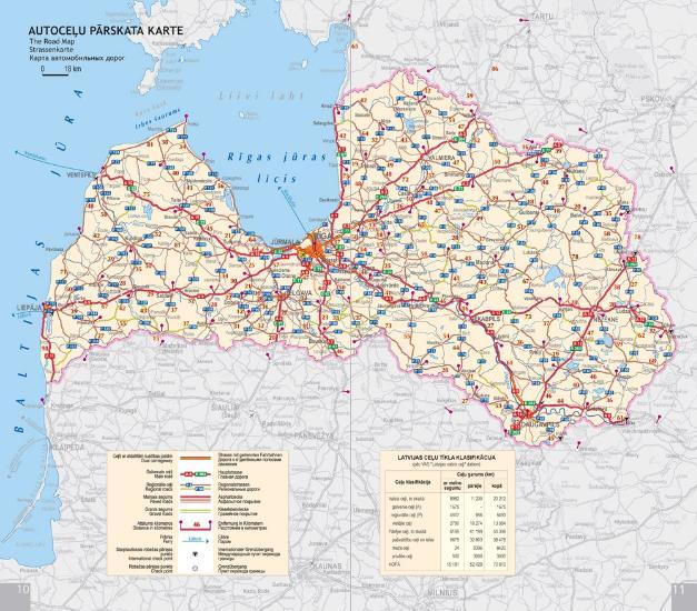 Maps Road maps atlases Mazais Latvijas autoceu atlants