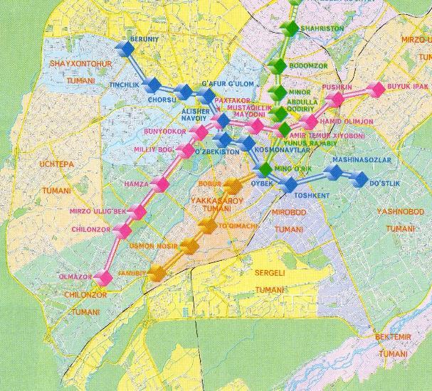 Maps City maps atlases Toshkent Shahar Transportining Sxemasi