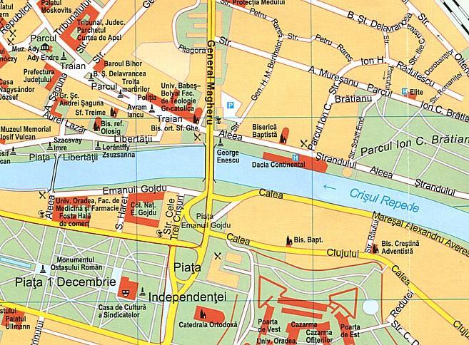 Maps City Maps Atlases ClujNapoca Oradea - Oradea map