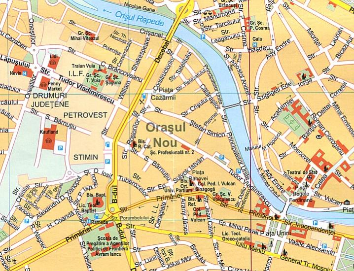 Maps City maps atlases ClujNapoca Oradea