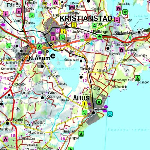 Maps Road maps atlases Sweden South