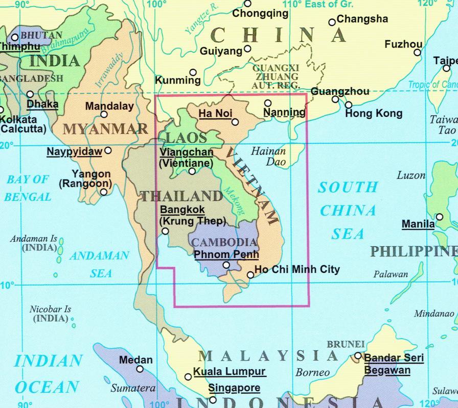 Maps Road maps atlases Vietnam Laos Cambodia