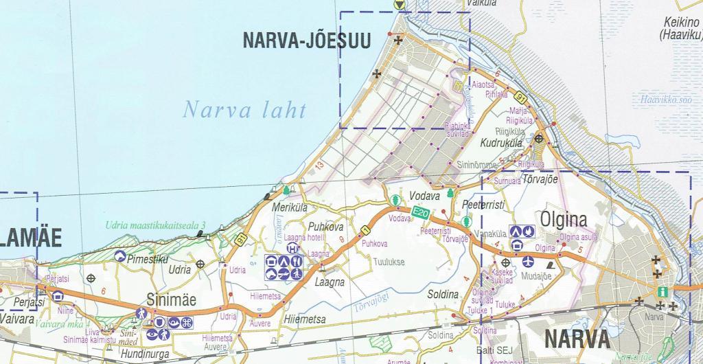 Maps Tourism maps IdaVirumaa