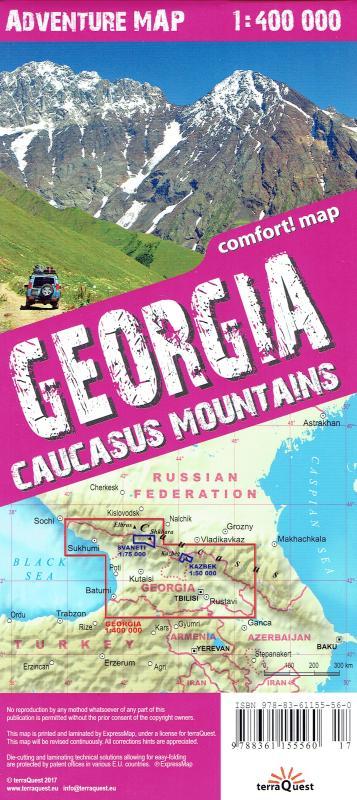 Maps Road Maps Atlases GeorgiaCaucasus Mountains Adventure Map - Nalchik map