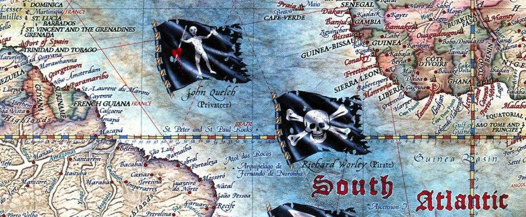 Pirate World Map.Maps Wall Maps The Age Of Pirates World Map