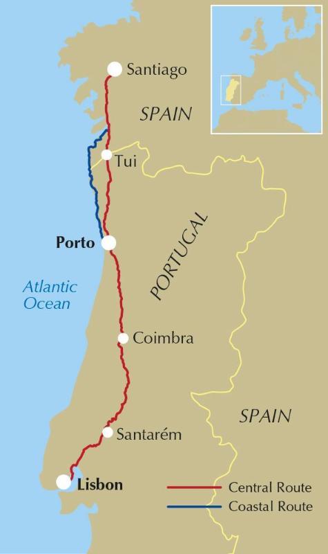 Camino Portugues Karte.Guides Walking Guides The Camino Portugues