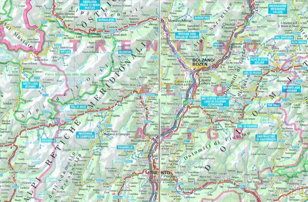 Road Map Of Northern Italy.Maps Road Maps Atlases Northern Italy Road Map