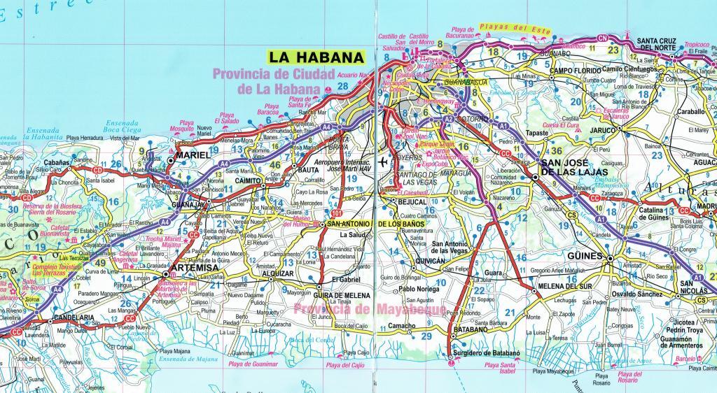 Maps - Road maps, atlases - Cuba Adventure map