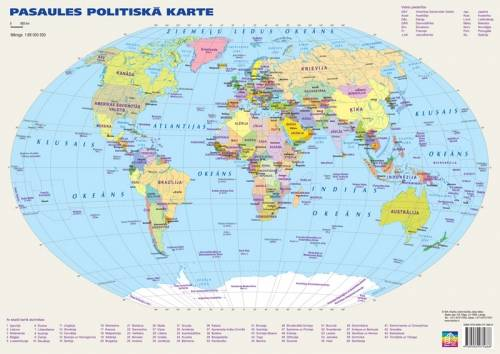 Maps Wall Maps Political And Physiographic World Map