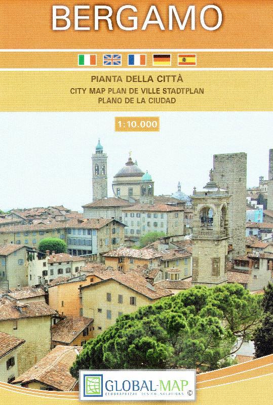 Maps City maps atlases Bergamo