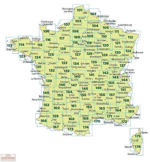 Maps - Tourism maps - France TOP100 (IGN)